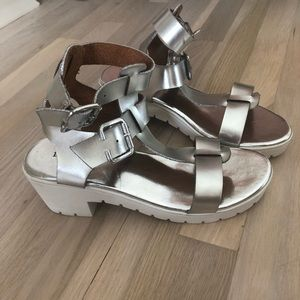 NEW Silver Gladiator Sandals